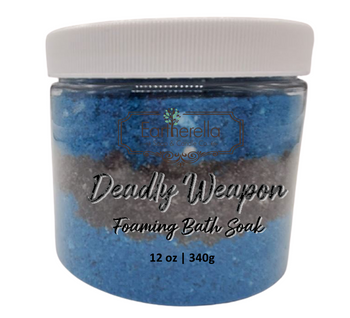 DEADLY WEAPON scented Fizzy Bath Soak with Epsom salts, Large 12 oz jar
