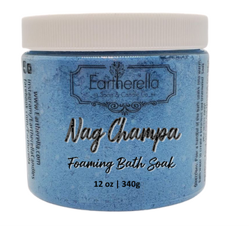 NAG CHAMPA scented Fizzy Bath Soak with Epsom salts, Large 12 oz jar