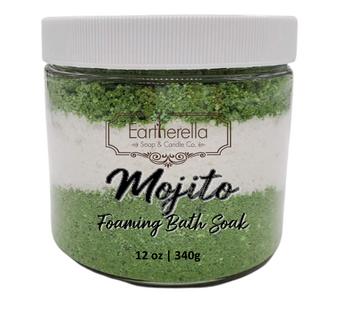 MOJITO scented Fizzy Bath Soak with Epsom salts, Large 12 oz jar