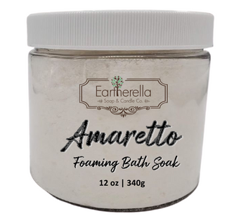 Naked AMARETTO scented Fizzy Bath Soak with Epsom salts, Large 12 oz jar