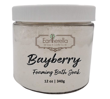 Naked BAYBERRY scented Fizzy Bath Soak with Epsom salts, Large 12 oz jar