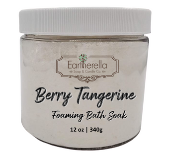 Naked BERRY TANGERINE scented Fizzy Bath Soak with Epsom salts, Large 12 oz jar