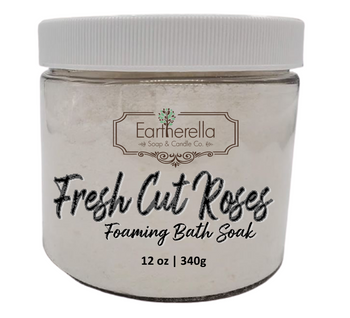 Naked FRESH CUT ROSES scented Fizzy Bath Soak with Epsom salts, Large 12 oz jar