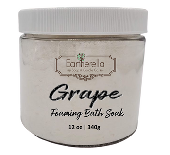 Naked GRAPE scented Fizzy Bath Soak with Epsom salts, Large 12 oz jar