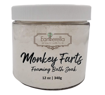 Naked MONKEY FARTS scented Fizzy Bath Soak with Epsom salts, Large 12 oz jar