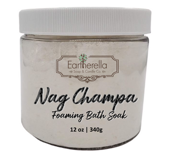 Naked NAG CHAMPA scented Fizzy Bath Soak with Epsom salts, Large 12 oz jar