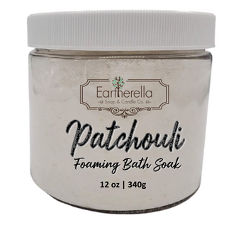Naked PATCHOULI scented Fizzy Bath Soak with Epsom salts, Large 12 oz jar