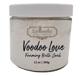 Naked VOODOO LOVE scented Fizzy Bath Soak with Epsom salts, Large 12 oz jar