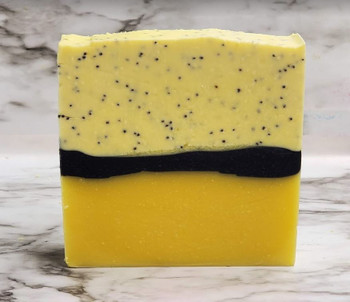 LEMON POPPYSEED handmade artisan blend soap bar 7 oz