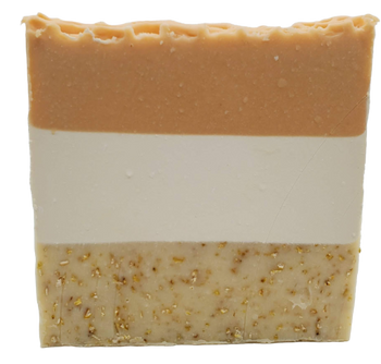 OATMEAL, MILK & HONEY exfoliating handmade artisan blend soap bar 6.5 oz