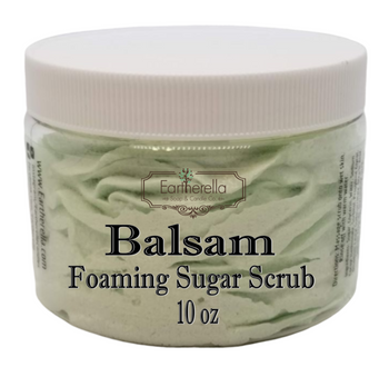 BALSAM Exfoliating Foaming Sugar Body Scrub, 10 oz jar