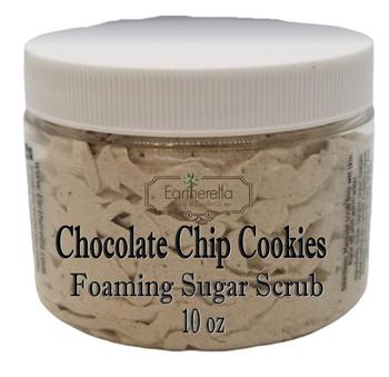 CHOCOLATE CHIP COOKIES Exfoliating Foaming Sugar Body Scrub, 10 oz jar