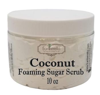 COCONUT Exfoliating Foaming Sugar Body Scrub, 10 oz jar