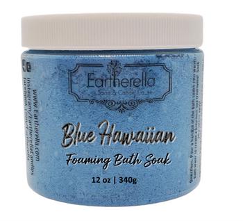 BLUE HAWAIIAN scented Foamy Bath Soak with Epsom salts, Large 12 oz jar