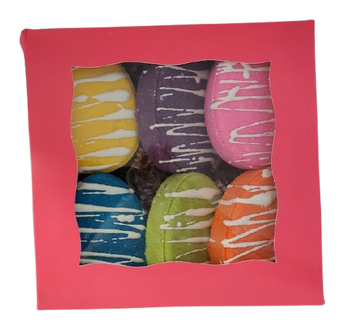 EASTER EGG 6-pack bath bomb gift box, variety pack