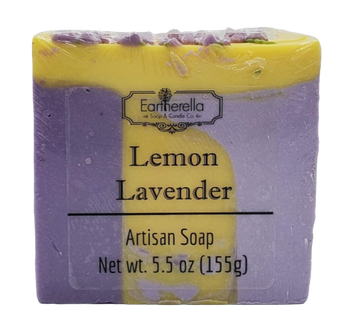 LEMON LAVENDER handmade artisan blend soap bar 5.5 oz