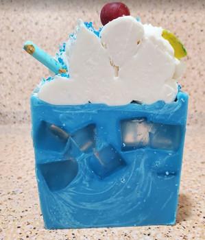 BLUE HAWAIIAN handmade artisan blend soap bar 8 oz