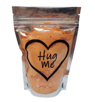 Orange CITRUS Conversation Hearts Bath Bomb Dust w/heart soap | 5 oz bag | Valentine's Day Gift | Epsom Salt Soak