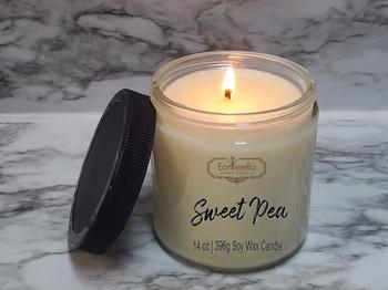 SWEET PEA Soy Candle 14 oz jar