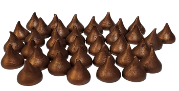 1/2 lb of HERSHEY KISS type CHOCOLATE DROPS  Wax Melts   Wax Embeds for Candles   Fake Food