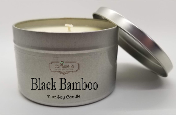BLACK BAMBOO Soy Candle 11 oz Tin