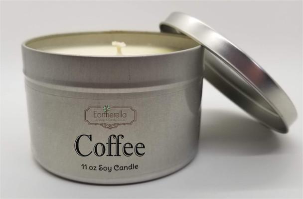 COFFEE Soy Candle 11 oz Tin