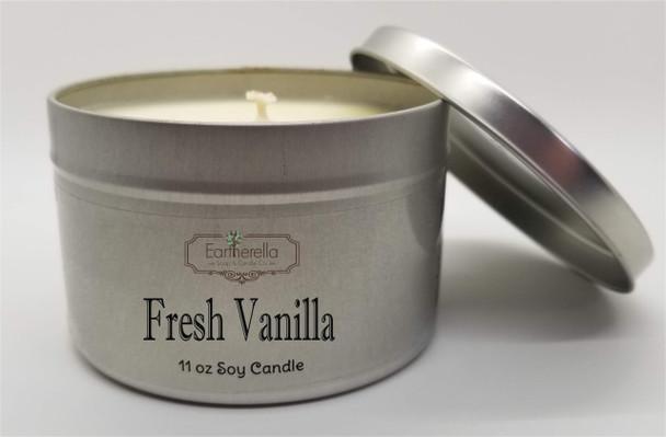 FRESH VANILLA Soy Candle 11 oz Tin