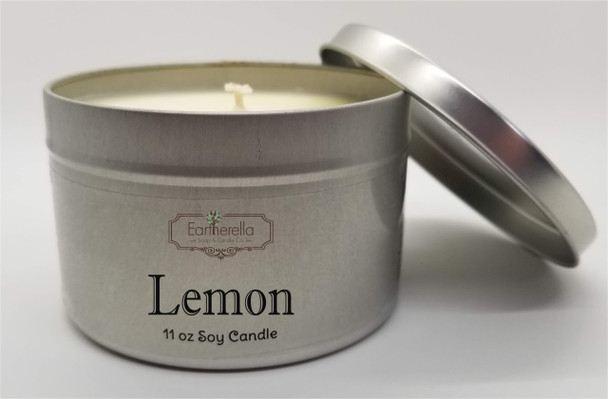 LEMON Soy Candle & Hand Lotion 11 oz Tin