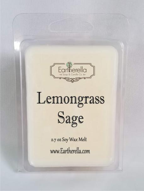 LEMONGRASS SAGE Soy Melts Tarts 2.7 oz