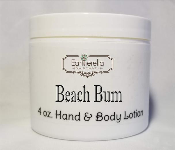 BEACH BUM Hand & Body Lotion Jar, 4 oz.