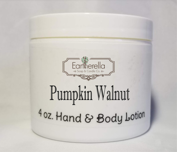 PUMPKIN WALNUT Hand & Body Lotion Jar, 4 oz.