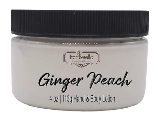 GINGER PEACH Hand & Body Lotion Jar, 4 oz.