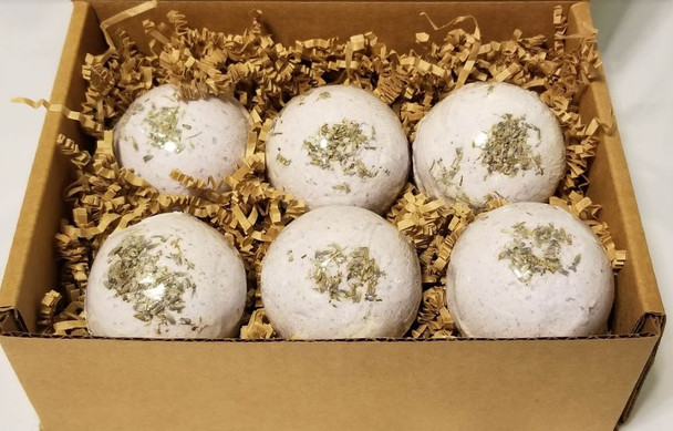 Lavender BATH BOMB Gift Box - set of 6