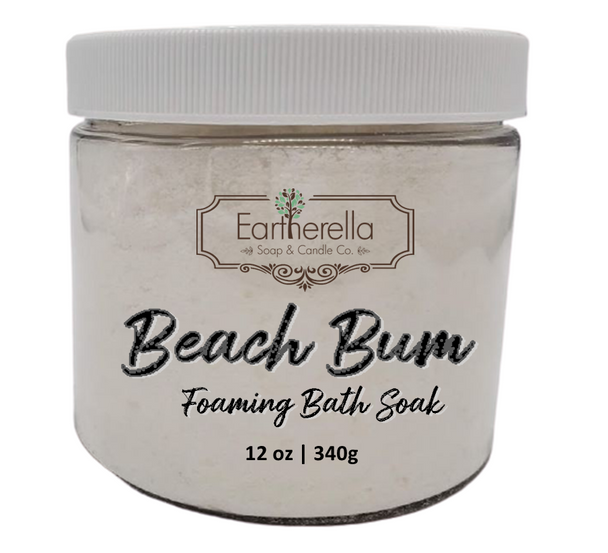 Naked BEACH BUM scented Fizzy Bath Soak with Epsom salts, Large 12 oz jar
