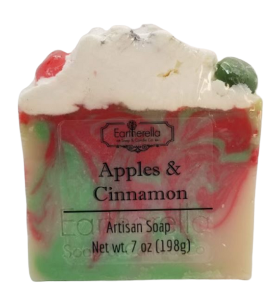 APPLES & CINNAMON handmade artisan blend soap bar 7 oz