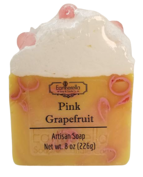 PINK GRAPEFRUIT handmade artisan blend soap bar 8 oz