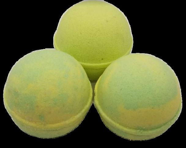 "PINA COLADA scented giant bath bomb 2.5"" diameter, 5.8 oz"