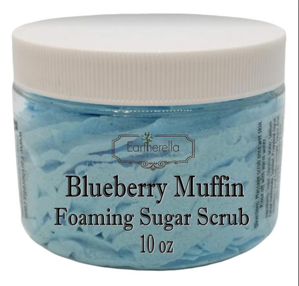 BLUEBERRY MUFFIN Exfoliating Foaming Sugar Body Scrub, 10 oz jar
