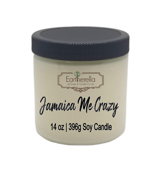 JAMAICA ME CRAZY Soy Candle 14 oz jar