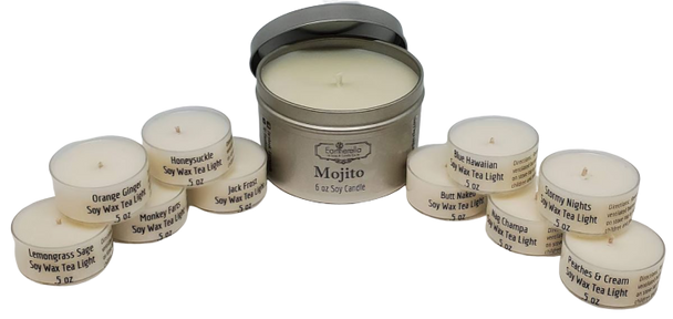11pc Soy candle SAMPLE PACK