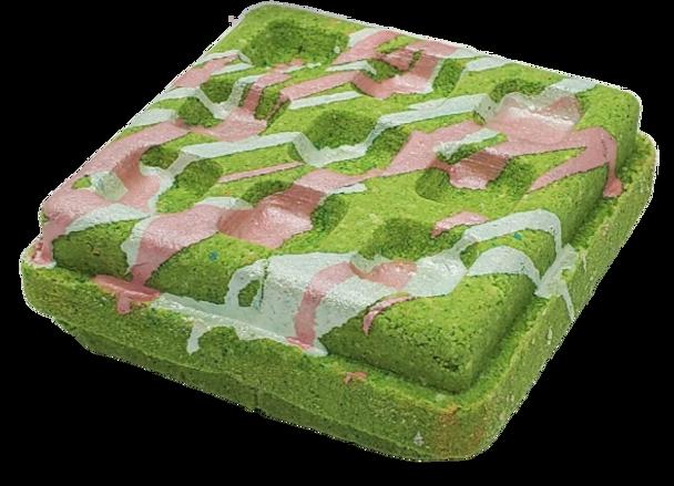 WAFFLE bath bomb 6 oz - your choice scent & color