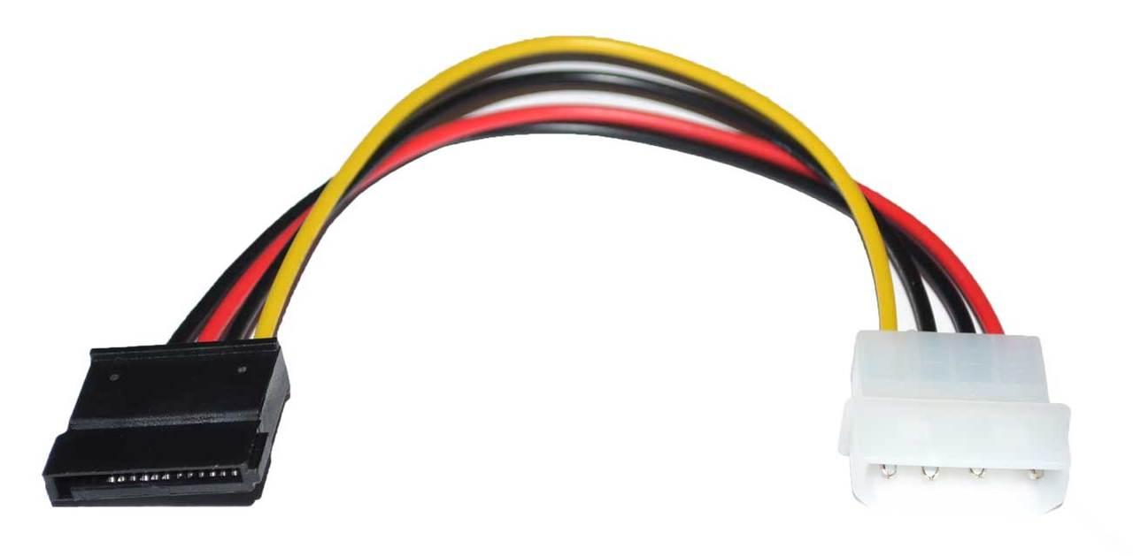 Cables / Connectors: 4-Pin IDE PATA ATA to Serial ATA (SATA) Molex Power  Adapter Converter Cable - CPU Medics