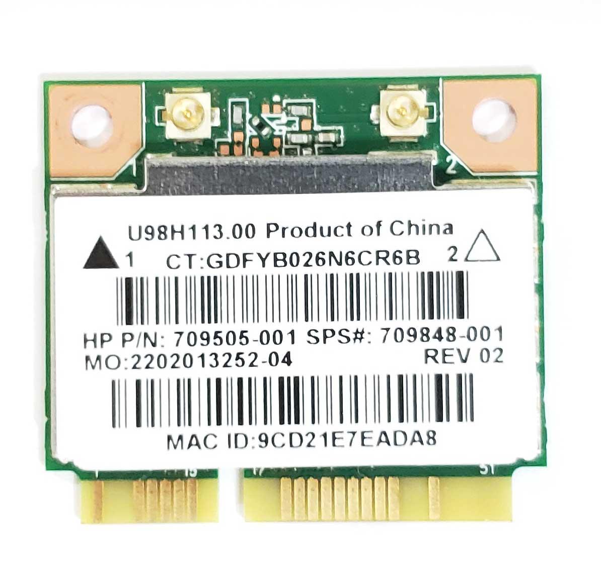 HP Touchsmart 15 17 Series WiFi Wireless Card Realtek RTL8188EE 709848-001