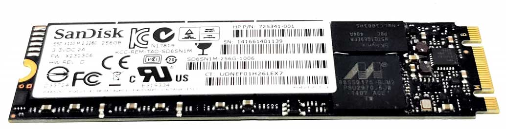 with triple-level cell tech HP GENUINE 256 SSD 823956-001,856448-001,M.2 SATA-3