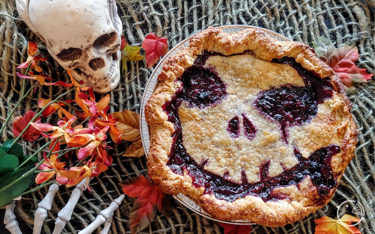triple berry horror pie