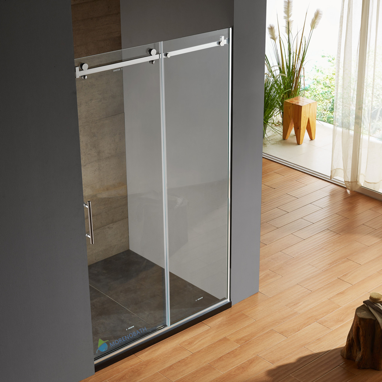 Moreno Better Bt220 48 W 79 H Frameless Sliding Shower Enclosure
