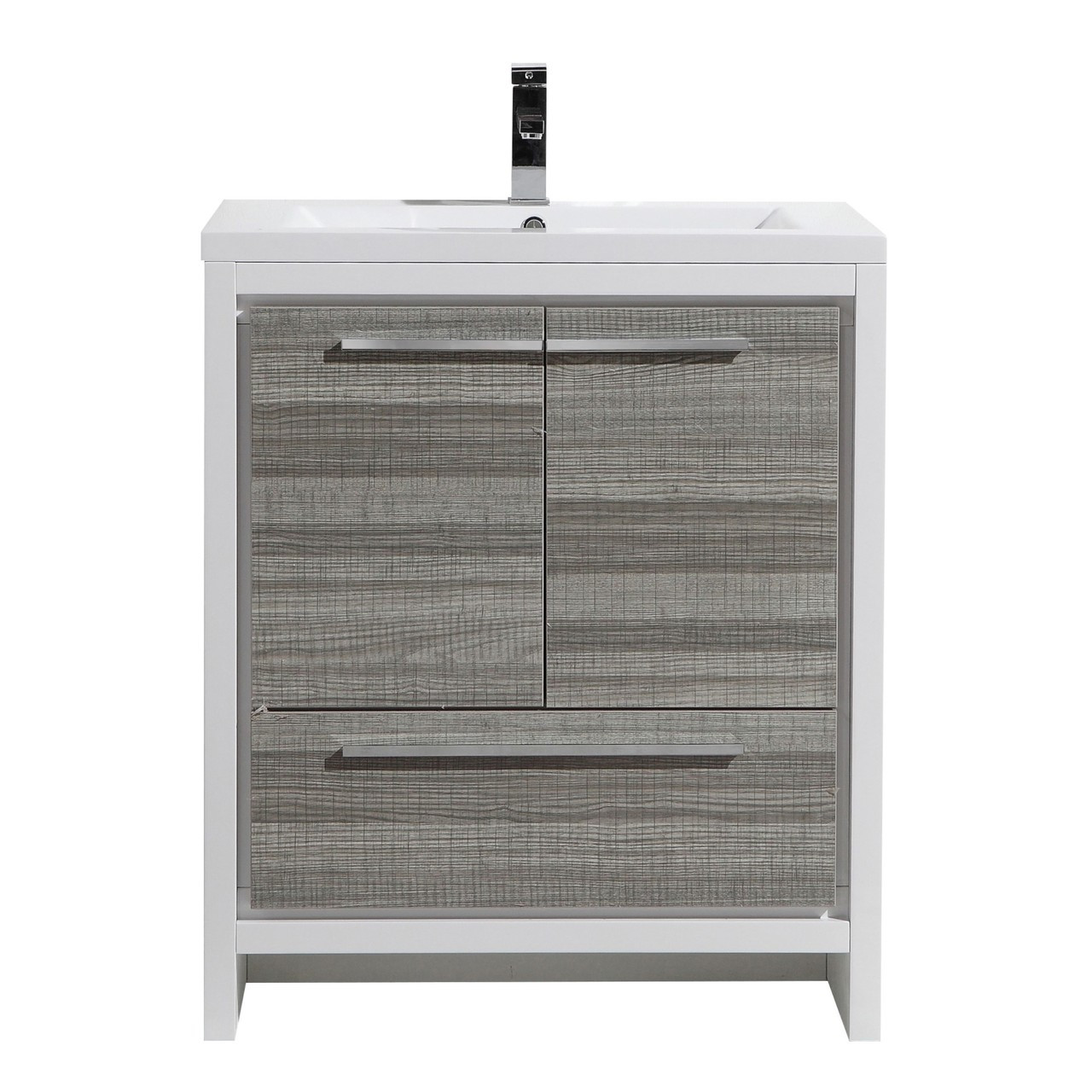 Dolce 30″ Bath Vanity with Single Reinforced Acrylic Sink