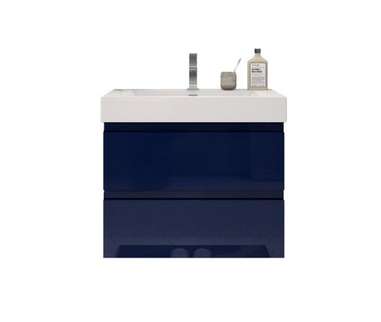 Fortune 30 Wall Mounted Vanity With Reinforced Acrylic Sink