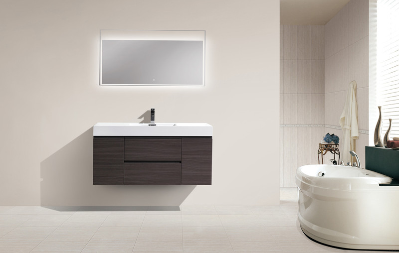 Fortune 48 Wall Mounted Vanity With Reinforced Acrylic Sink