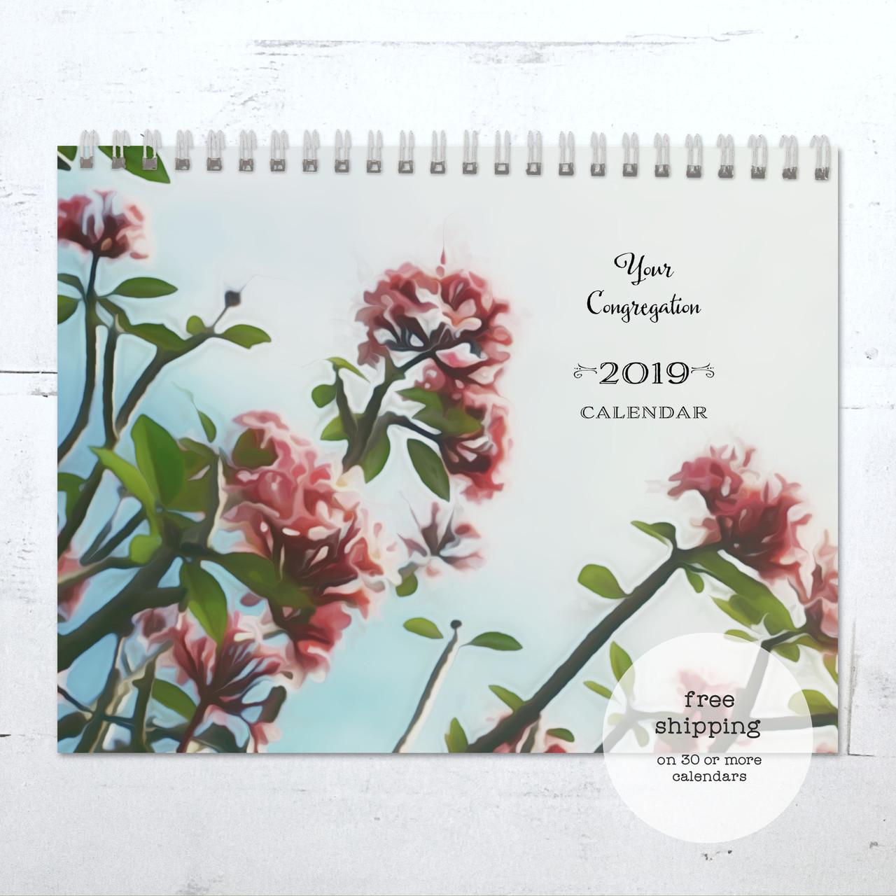 Watercolor Landscapes Birthday Calendar Congregational Or Family
